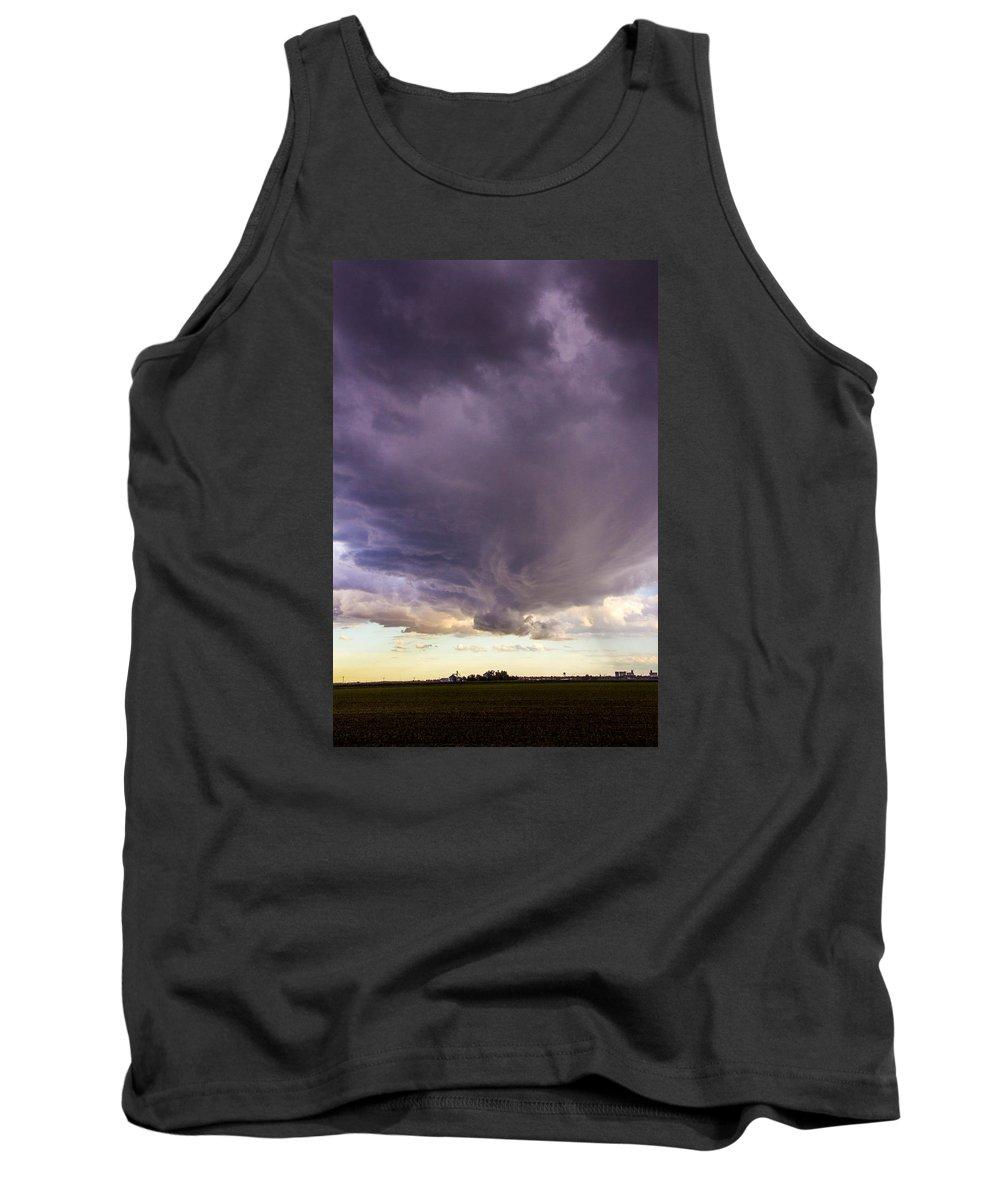 Nebraskasc Tank Top featuring the photograph Afternoon Nebraska Thunderstorm by Dale Kaminski