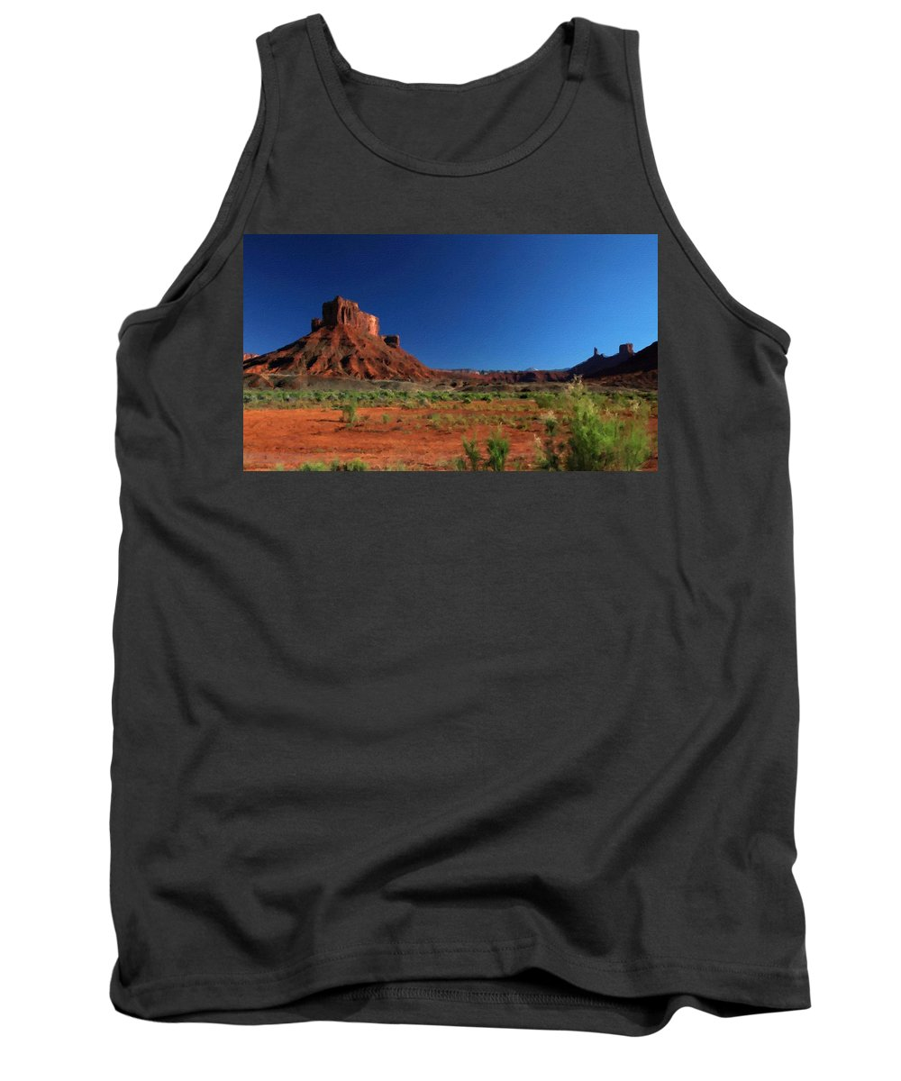 C Tank Top featuring the digital art Landscape Paint by Usa Map