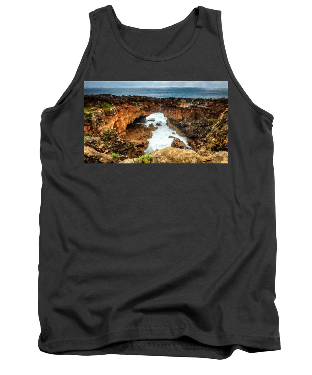 J Tank Top featuring the digital art M N Landscape by Usa Map