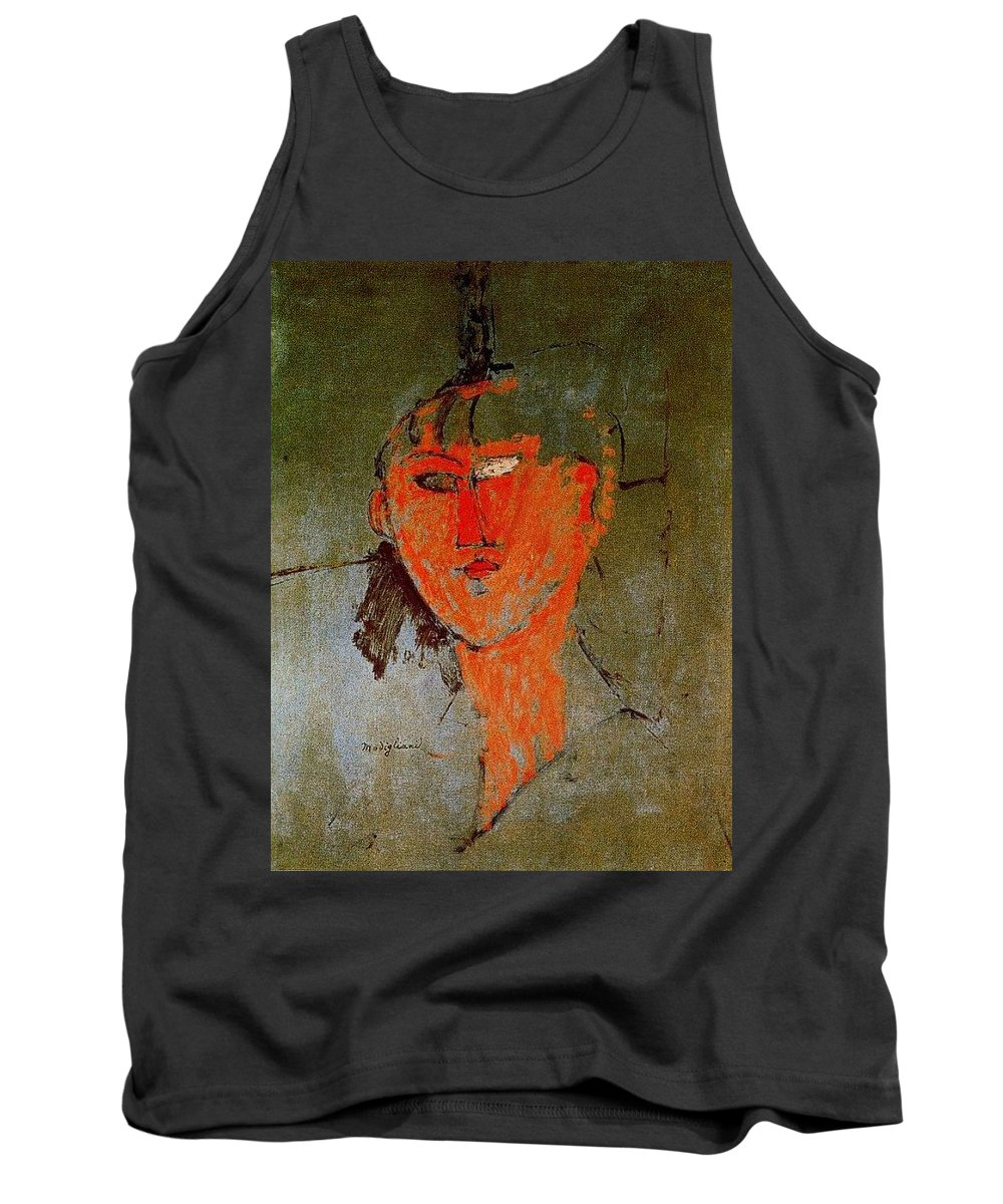 Insect Tank Top featuring the digital art 16937 Amedeo Modigliani by Eloisa Mannion