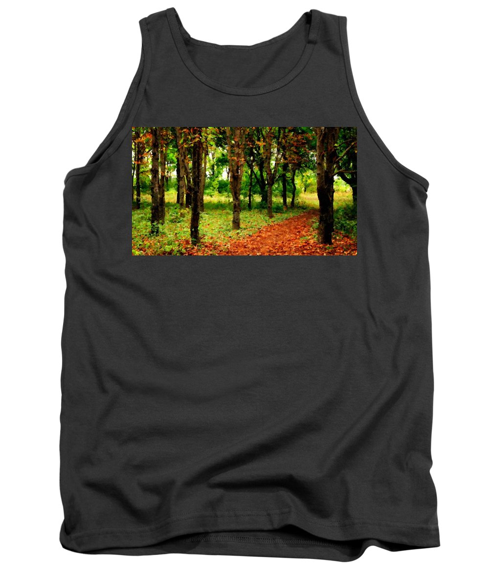 In Tank Top featuring the digital art Landscape View by Usa Map