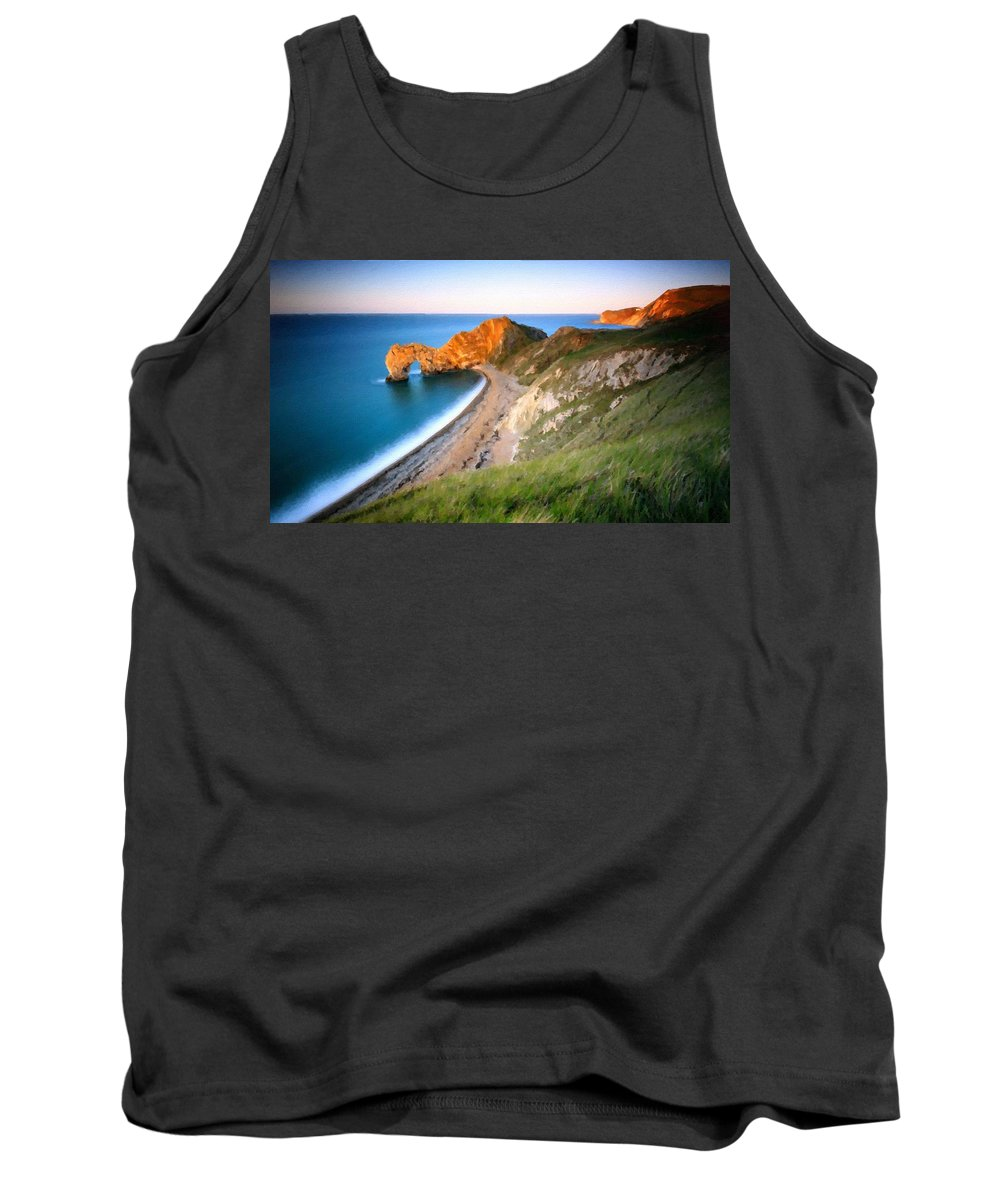 Nature Tank Top featuring the digital art By Nature by Usa Map