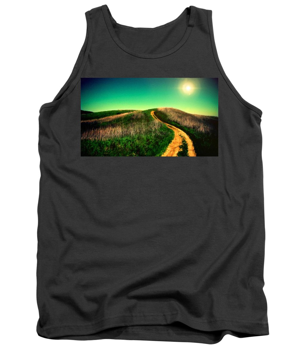 Oil Tank Top featuring the digital art P G Landscape by Usa Map