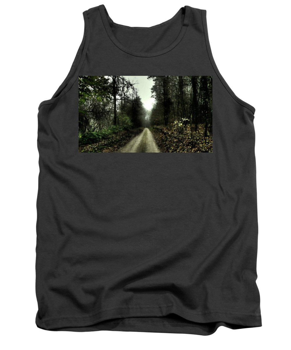 C Tank Top featuring the digital art Landscape Picture by Usa Map