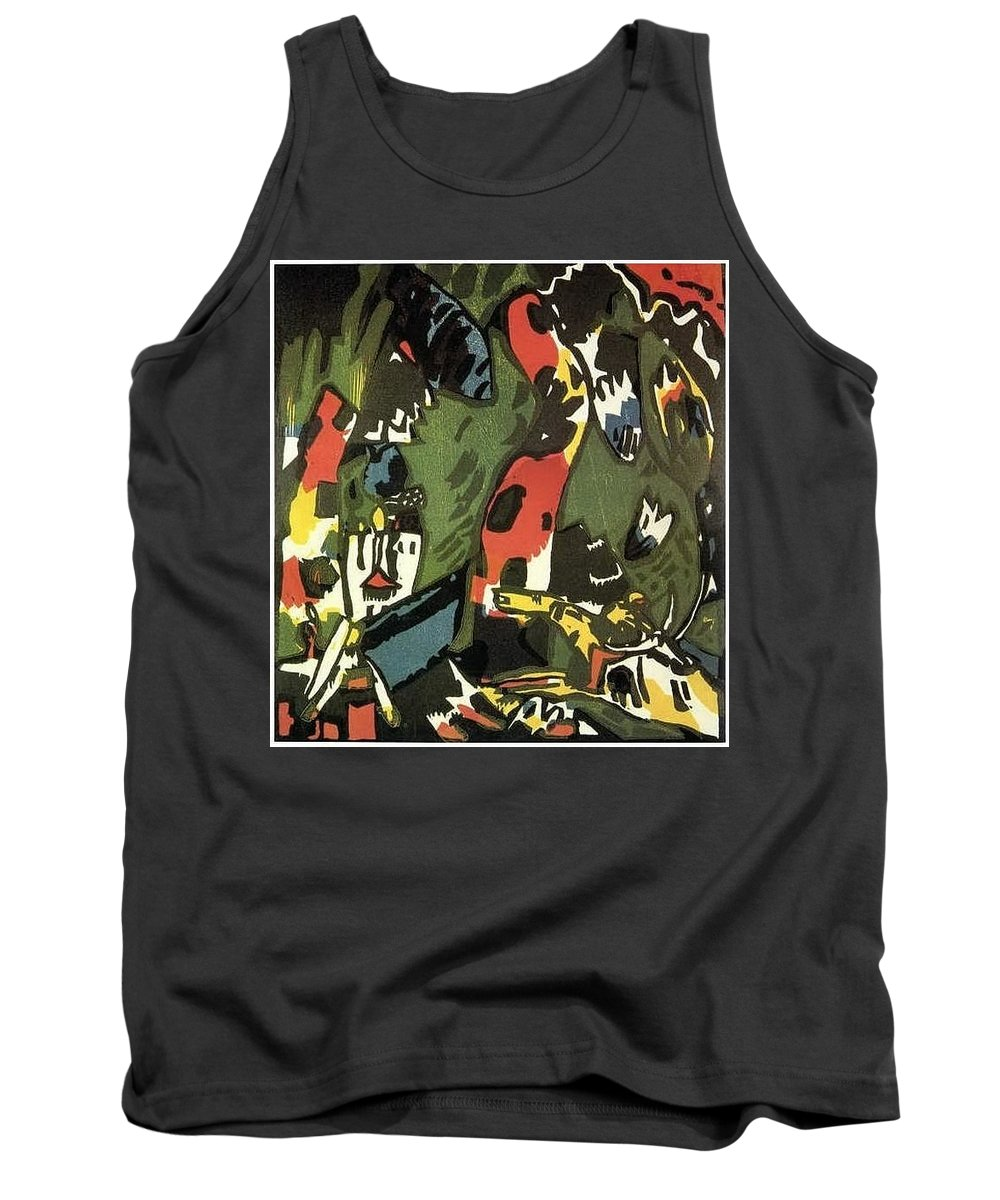 Graffito Tank Top featuring the digital art 1909 Vasily Kandinsky by Eloisa Mannion