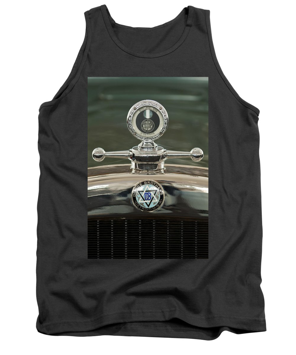 1926 Dodge Woody Wagon Tank Top featuring the photograph 1926 Dodge Woody Wagon Hood Ornament by Jill Reger