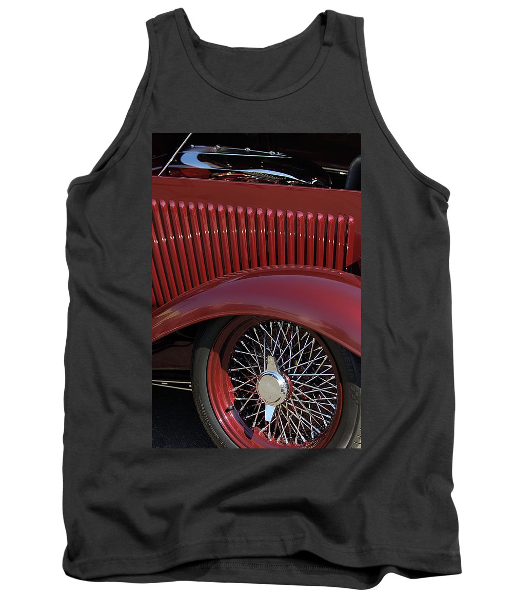 1932 Ford Tank Top featuring the photograph 1932 Ford Hot Rod Wheel by Jill Reger