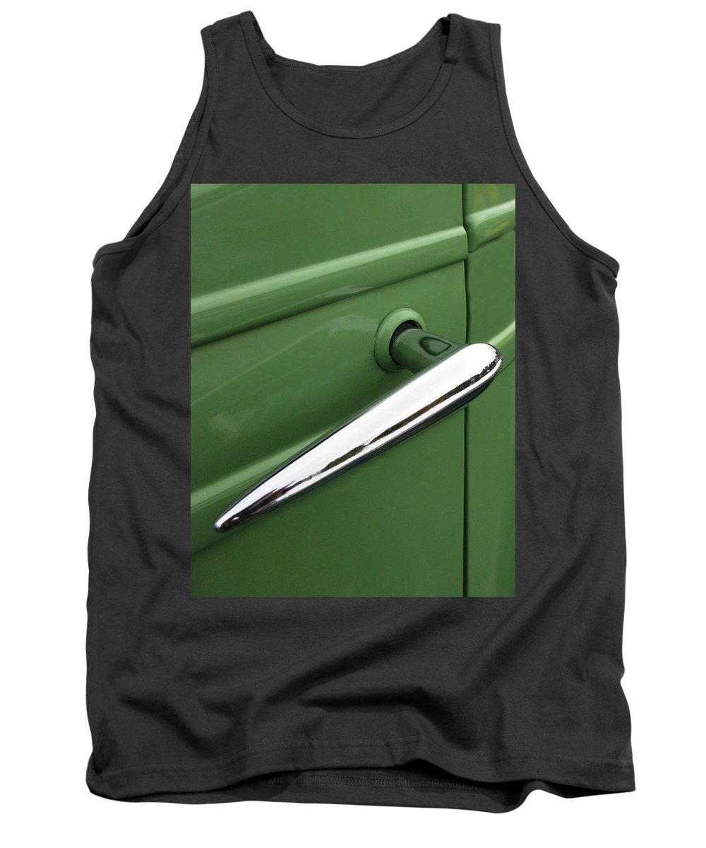 1936 Chevy Pickup Door Handle Tank Top featuring the photograph 1936 Chevy Pickup by Peter Piatt