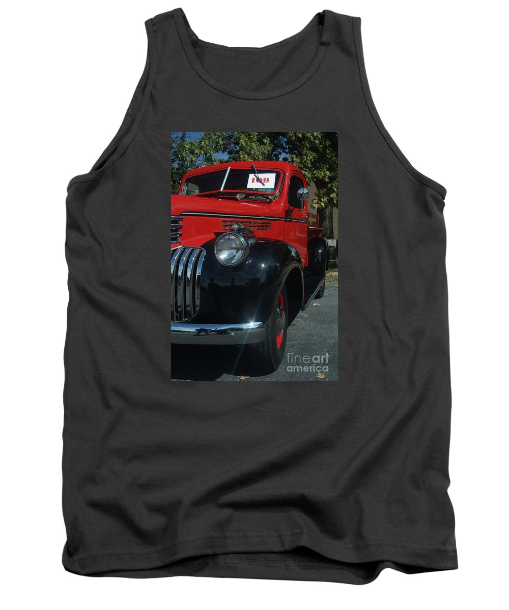 Truck Tank Top featuring the photograph 1942 Cfhevy Truck by Rob Luzier
