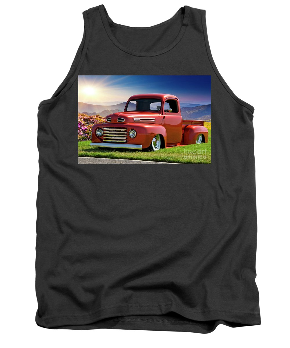 Automobile Tank Top featuring the photograph 1948 Ford F1 Custom Stepside Pickup 2 by Dave Koontz
