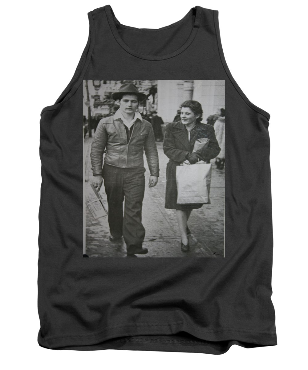 1950 Fashion Black And White Photograph Old Images Classic Tank Top featuring the photograph 1950s Fashion by Andrea Lawrence