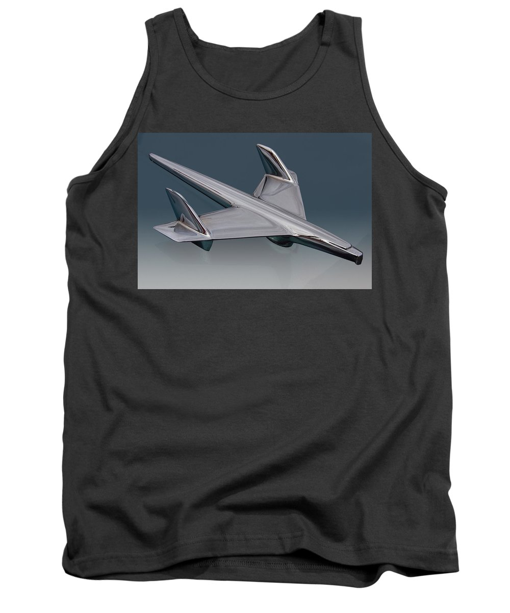 1955 Tank Top featuring the photograph 1955 Chevrolet Hood Ornament by Nick Gray