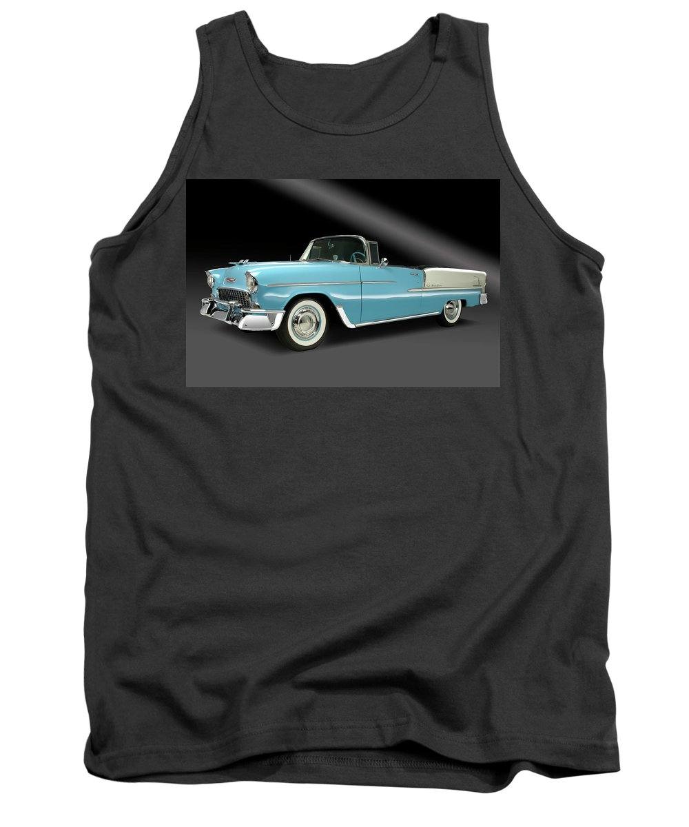 Chevy Tank Top featuring the photograph 1955 Chevy Bel Air by Dennis Fugnetti