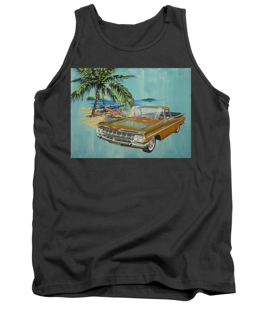 Chevrolet Tank Top featuring the painting 1959 Chevrolet El Camino by Jonathan Reed