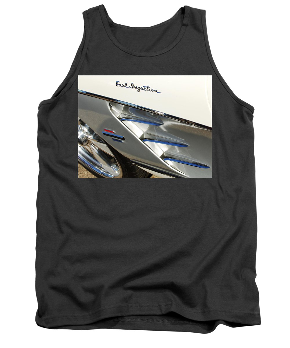 Car Tank Top featuring the photograph 1961 Chevrolet Corvette Abstract by Jill Reger