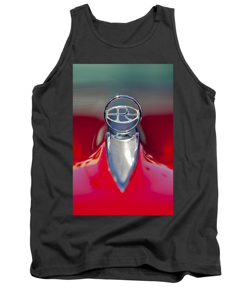 1965 Buick Riviera Tank Top featuring the photograph 1965 Buick Riviera Hood Ornament by Jill Reger