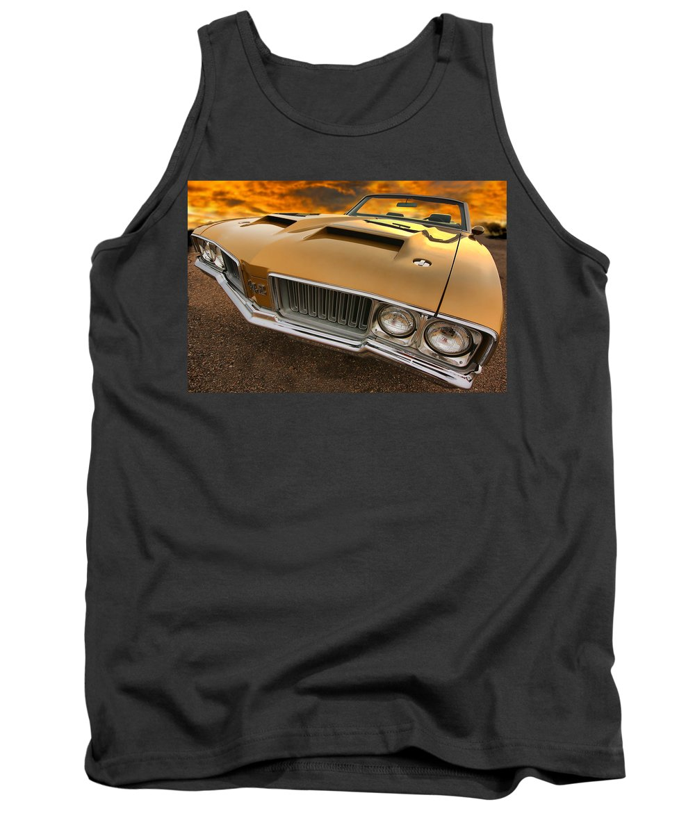 Oldsmobile Tank Top featuring the photograph 1970 Oldsmobile 442 W-30 by Gordon Dean II