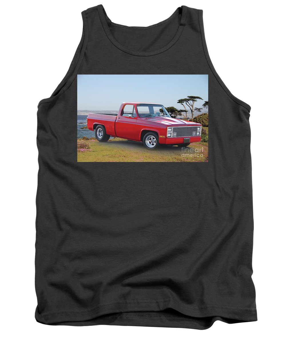 Automobile Tank Top featuring the photograph 1973 Chevrolet C10 Fleetside Pickup I by Dave Koontz