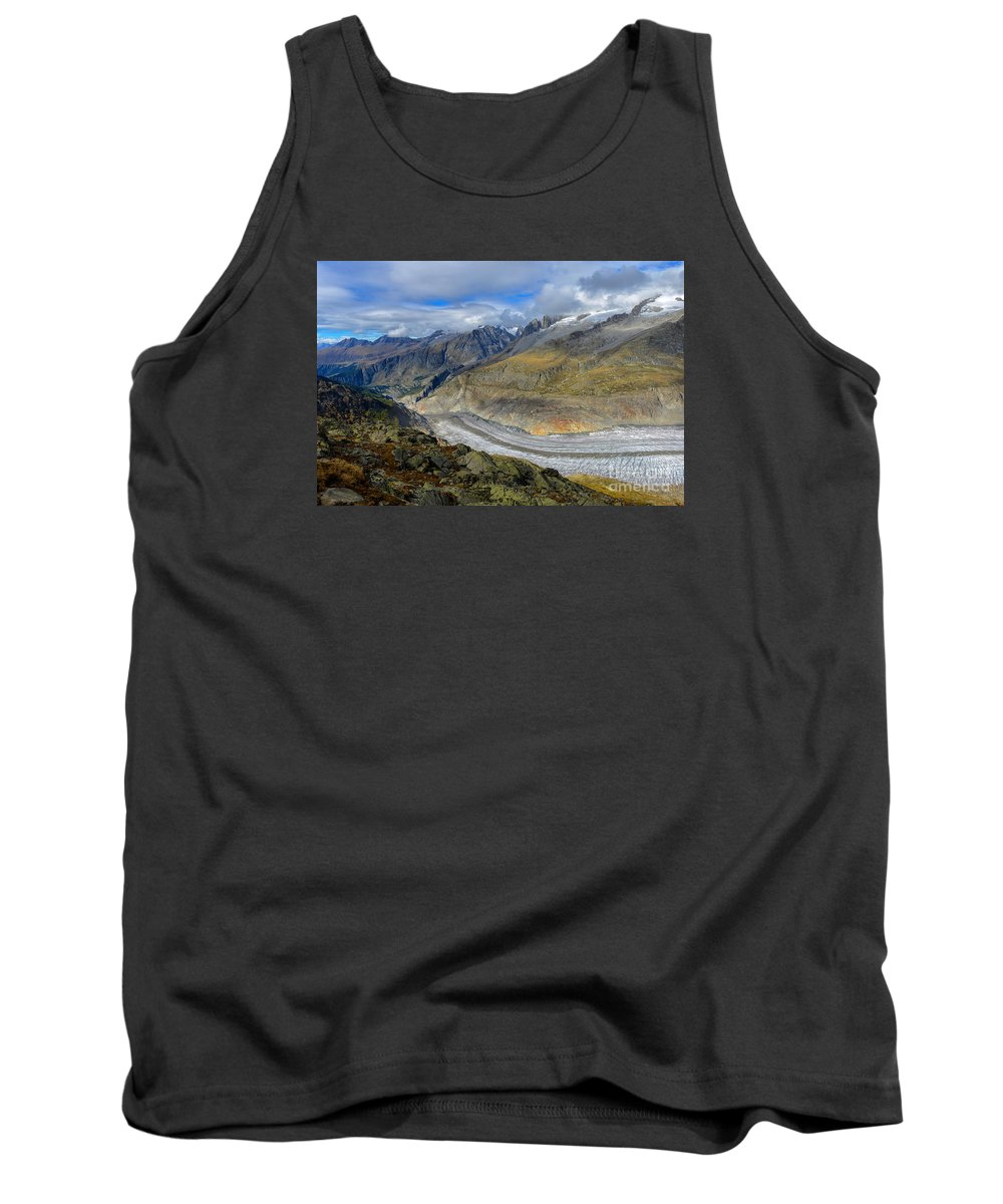 Aletsch Glacier Tank Top featuring the photograph Aletsch Glacier, Switzerland by Ivan Batinic