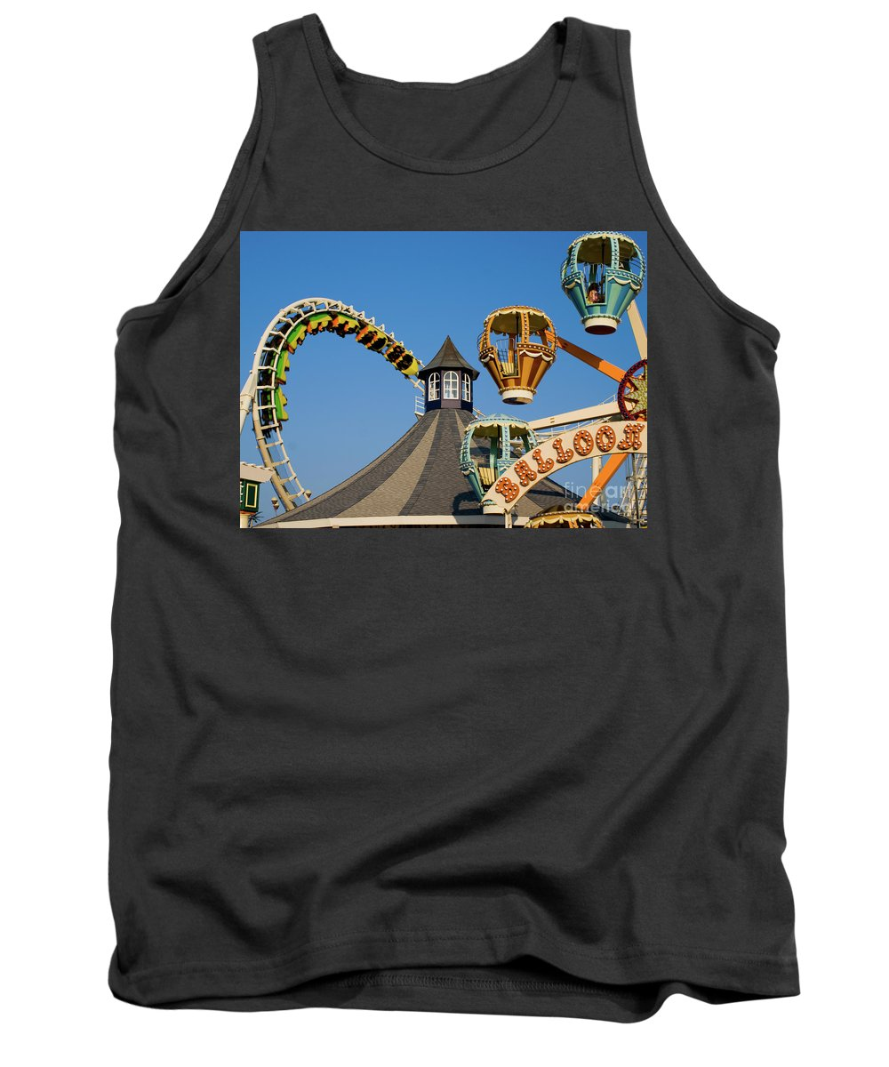 Wildwood Tank Top featuring the photograph Amusement Park by Anthony Totah