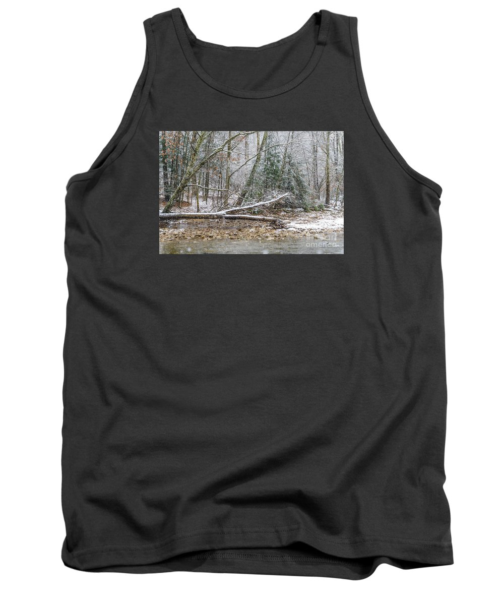 Williams River Tank Top featuring the photograph Autumn Snow Williams River by Thomas R Fletcher