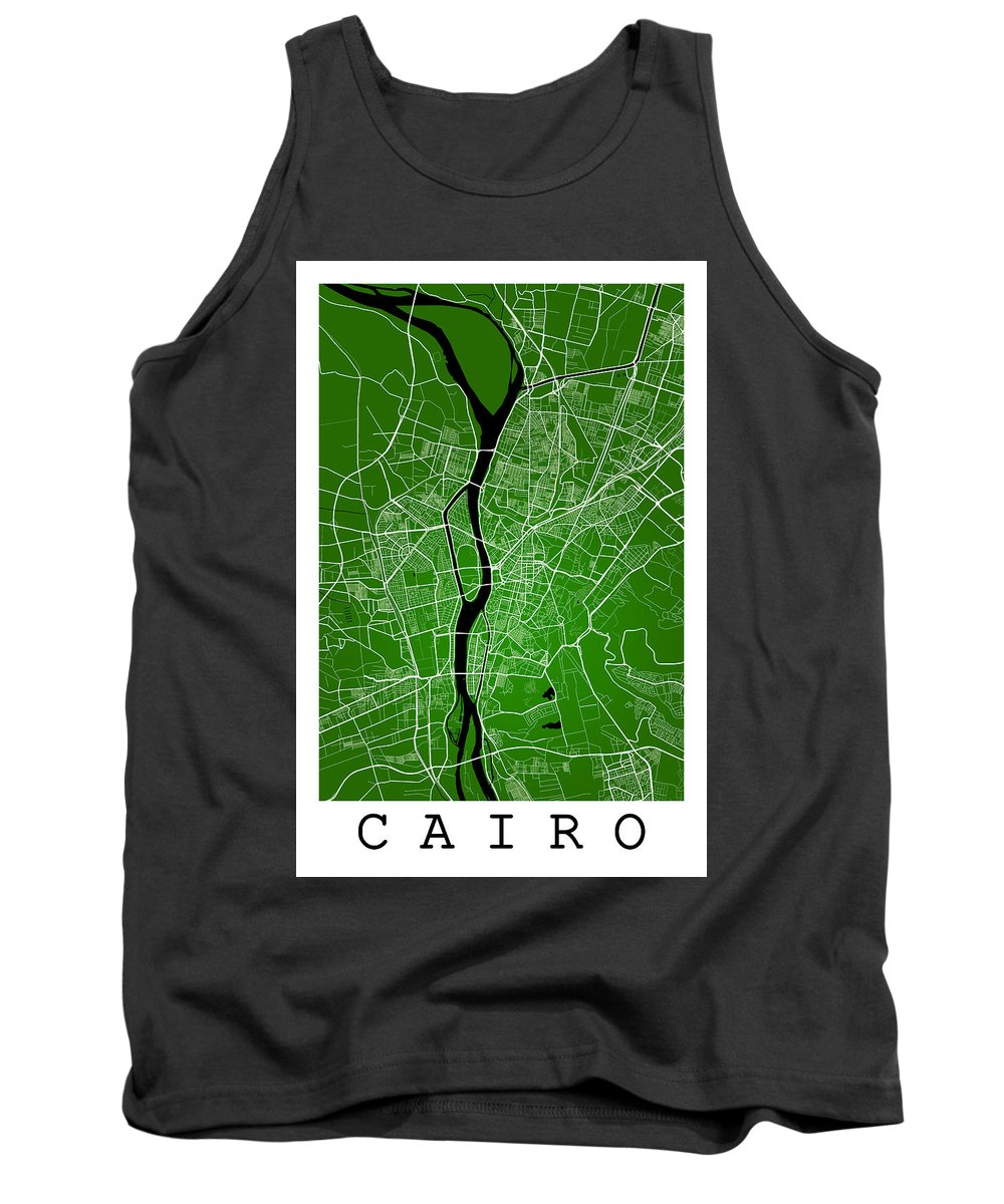 Road Map Tank Top featuring the digital art Cairo Street Map - Cairo Egypt Road Map Art On Colored Backgroun by Jurq Studio
