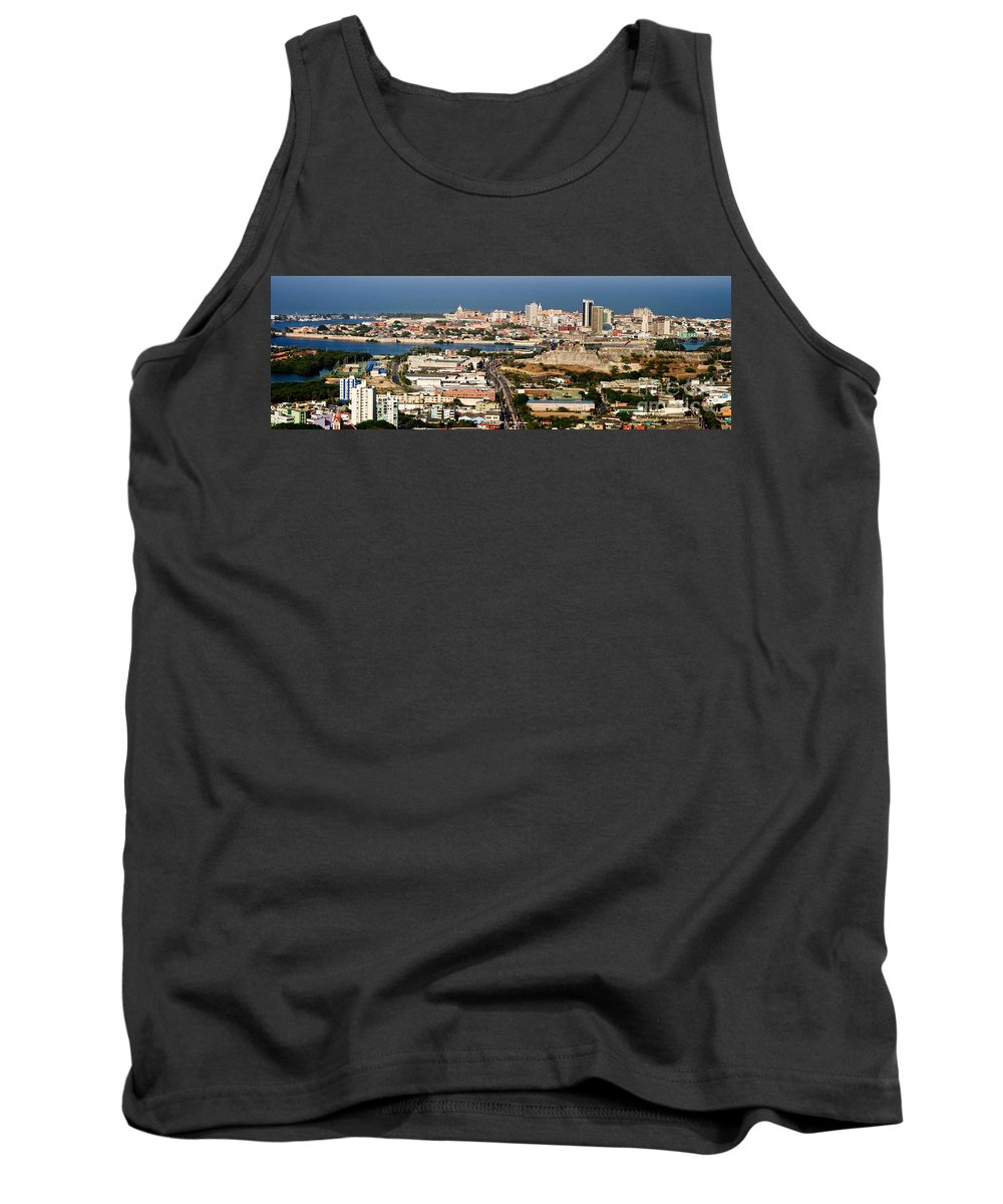 Cartegena Tank Top featuring the photograph Cartegena Colombia by Thomas Marchessault