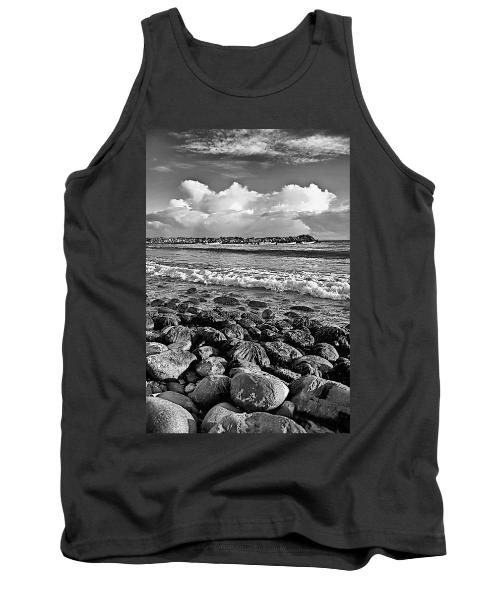 Playa Tank Top featuring the photograph Clouds Over The Sea by Galeria Trompiz