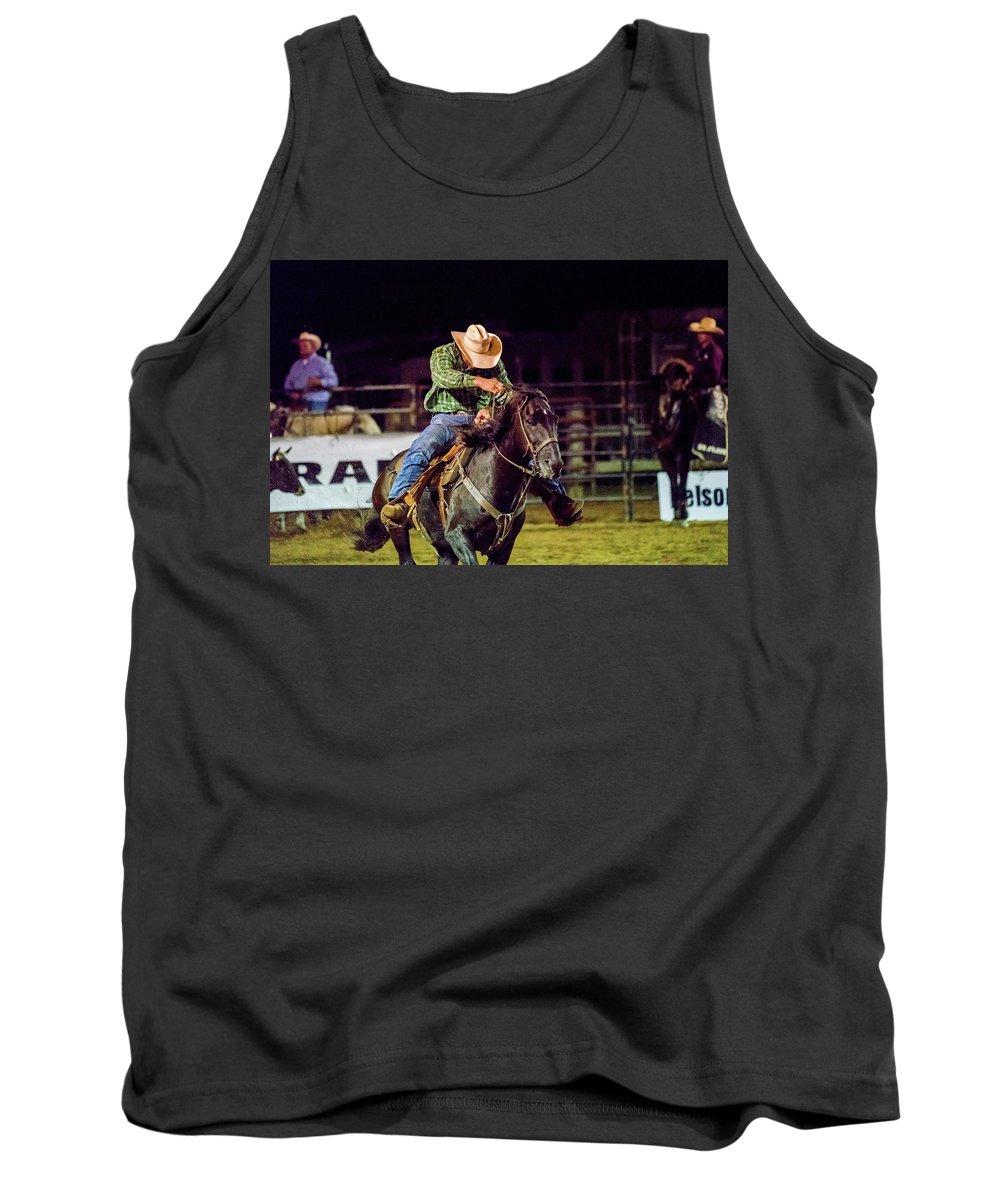 Rodeo Tank Top featuring the photograph Cowboy by Glenn Matthews
