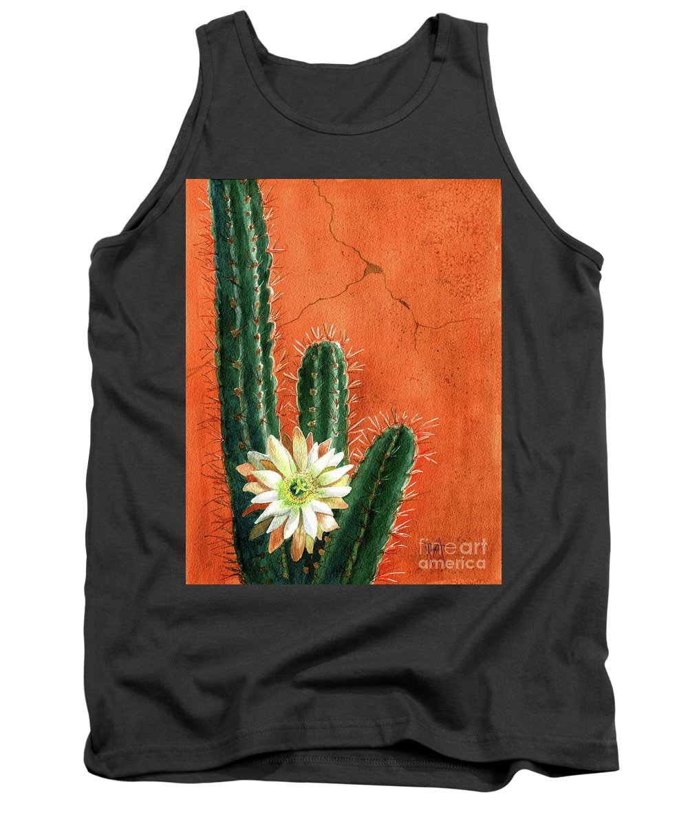 Desert Flower Tank Top featuring the painting Desert Delight by Marilyn Smith