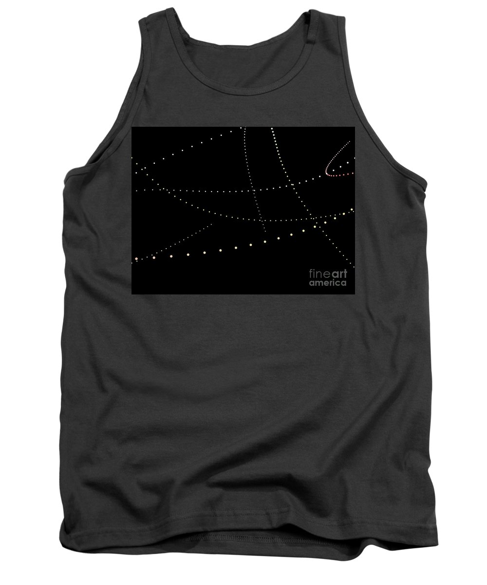 Abstract Tank Top featuring the digital art Dynamic And Bright Linear Sphere With Colorful Gradient by Eiko Tsuchiya