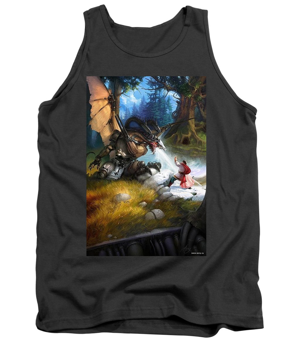 Art Tank Top featuring the digital art iE i Anry Nemo by Eloisa Mannion