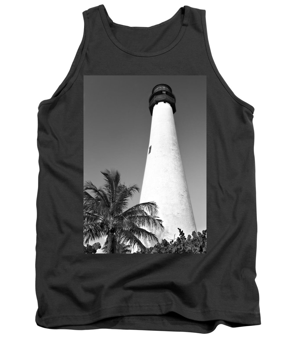 Beacon Tank Top featuring the photograph Key Biscayne Lighthouse by Rudy Umans