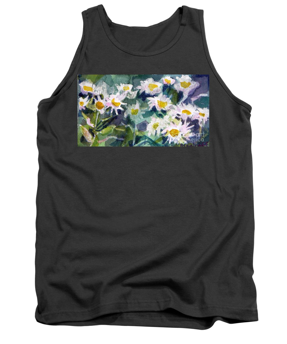 Flowers Tank Top featuring the painting Little Asters by Jan Bennicoff