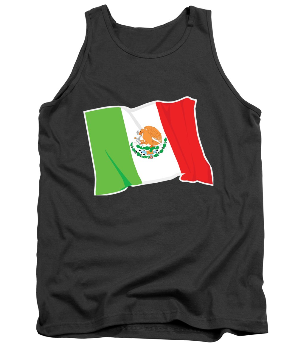 Flag Tank Top featuring the digital art Mexico Flag by Frederick Holiday