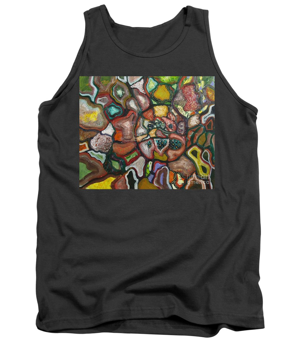 Abstract Paintings Paintings Abstract Art Paintings Tank Top featuring the painting Mindscape by Seon-Jeong Kim