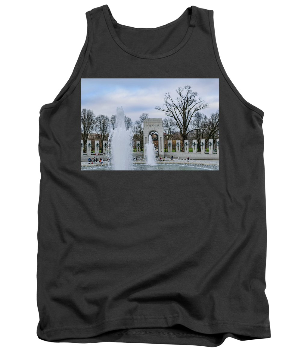 American Tank Top featuring the photograph National World War II Memorial by Cityscape Photography