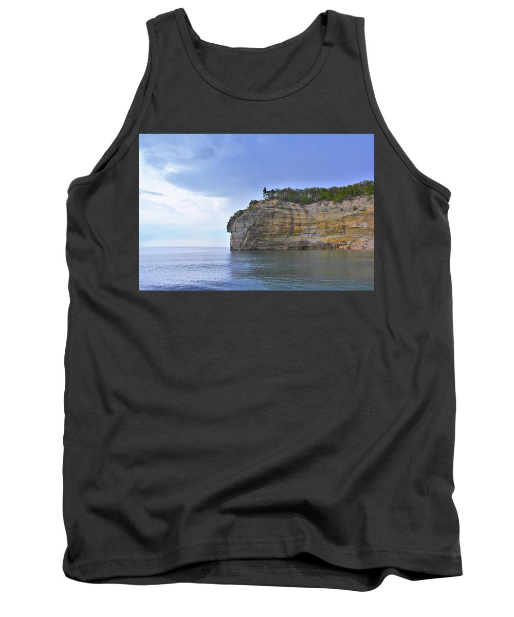 Endless Memories Photography Tank Top featuring the pyrography Pictured Rocks by Denise Cornetet
