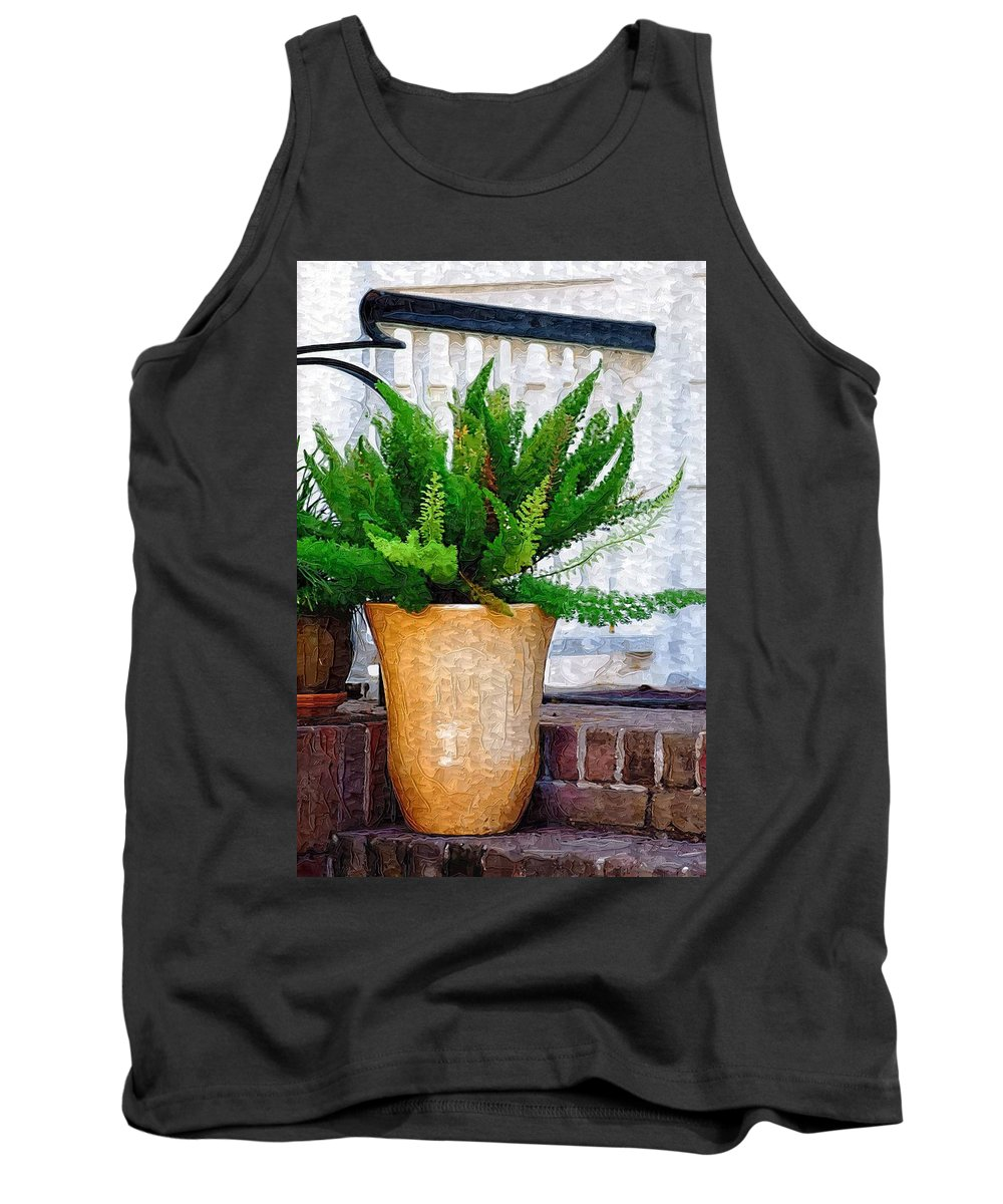 Potted Plant Tank Top featuring the photograph Potted Plant by Donna Bentley