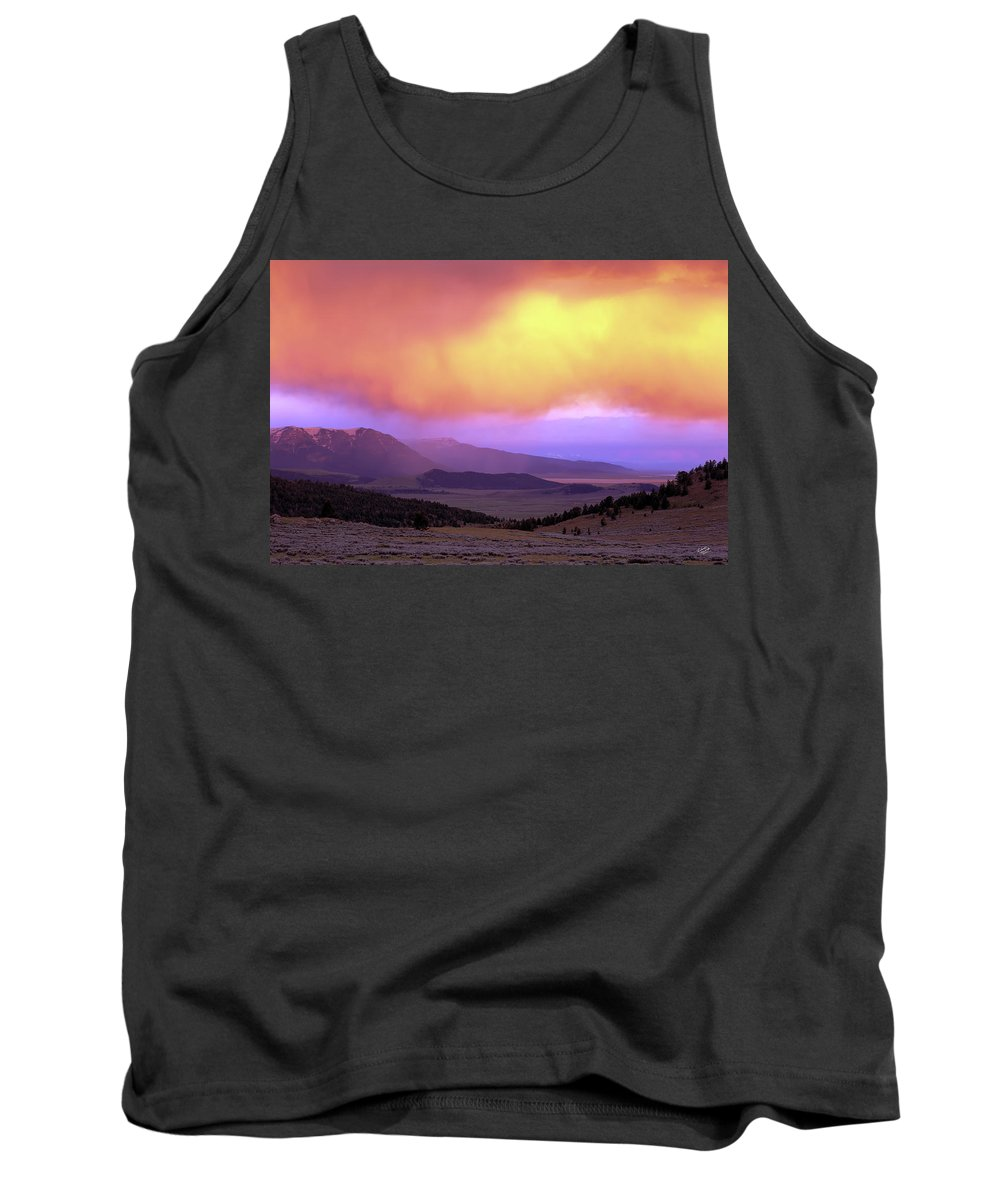 Sunset Tank Top featuring the photograph Red Rock Pass by Leland D Howard
