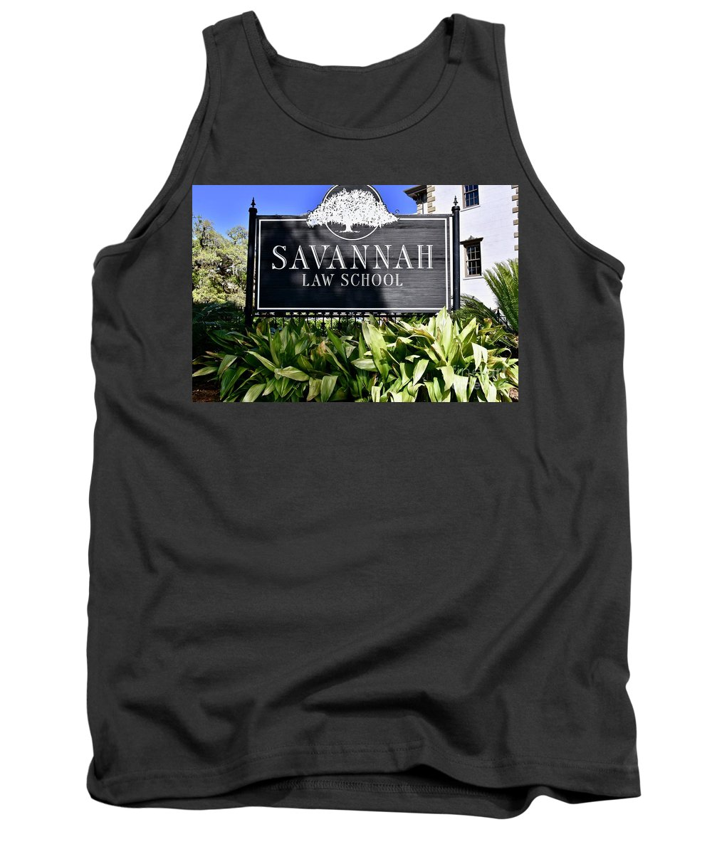 College Tank Top featuring the photograph Savannah Law School by Jeramey Lende