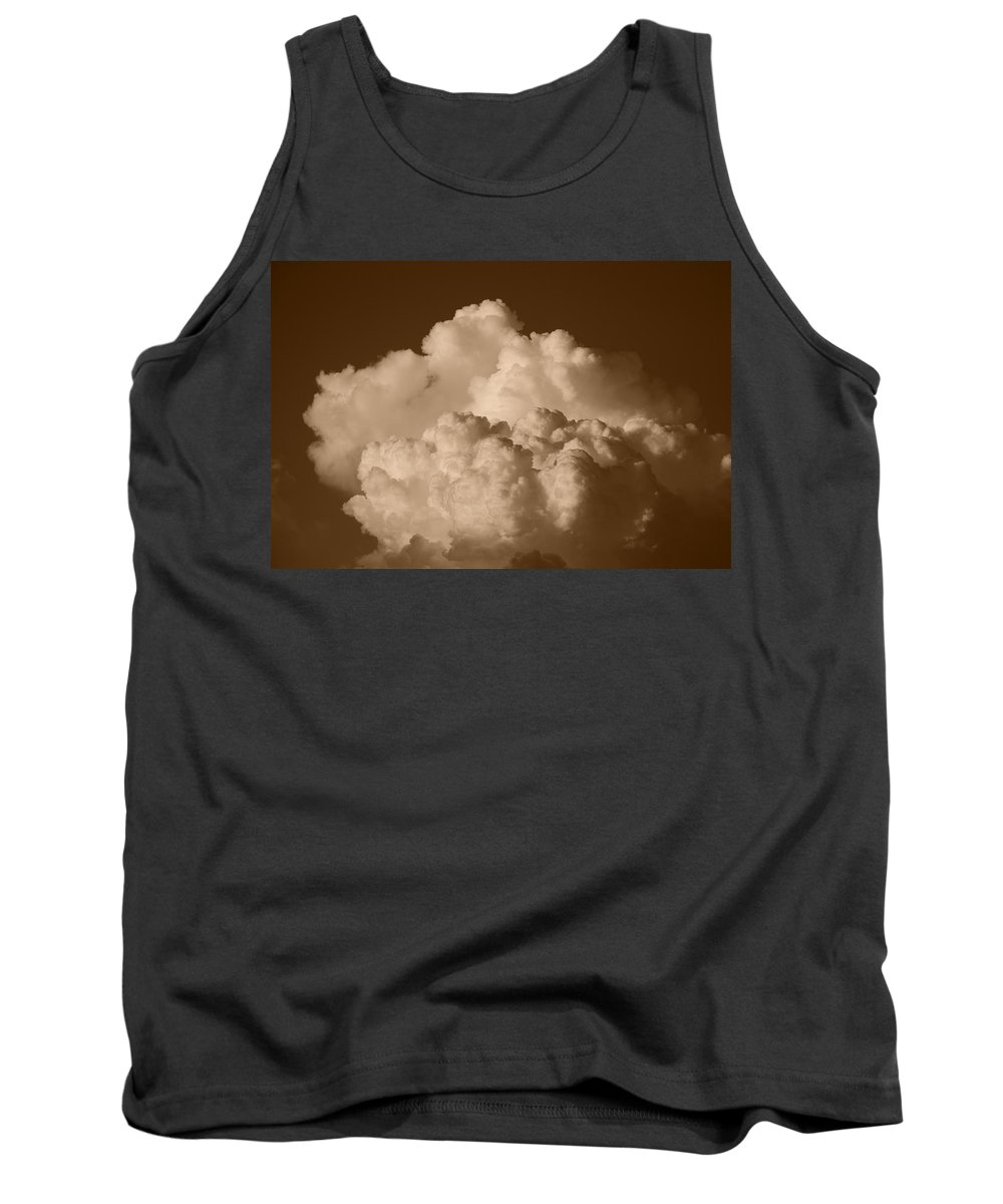 Sepia Tank Top featuring the photograph Sepia Clouds by Rob Hans