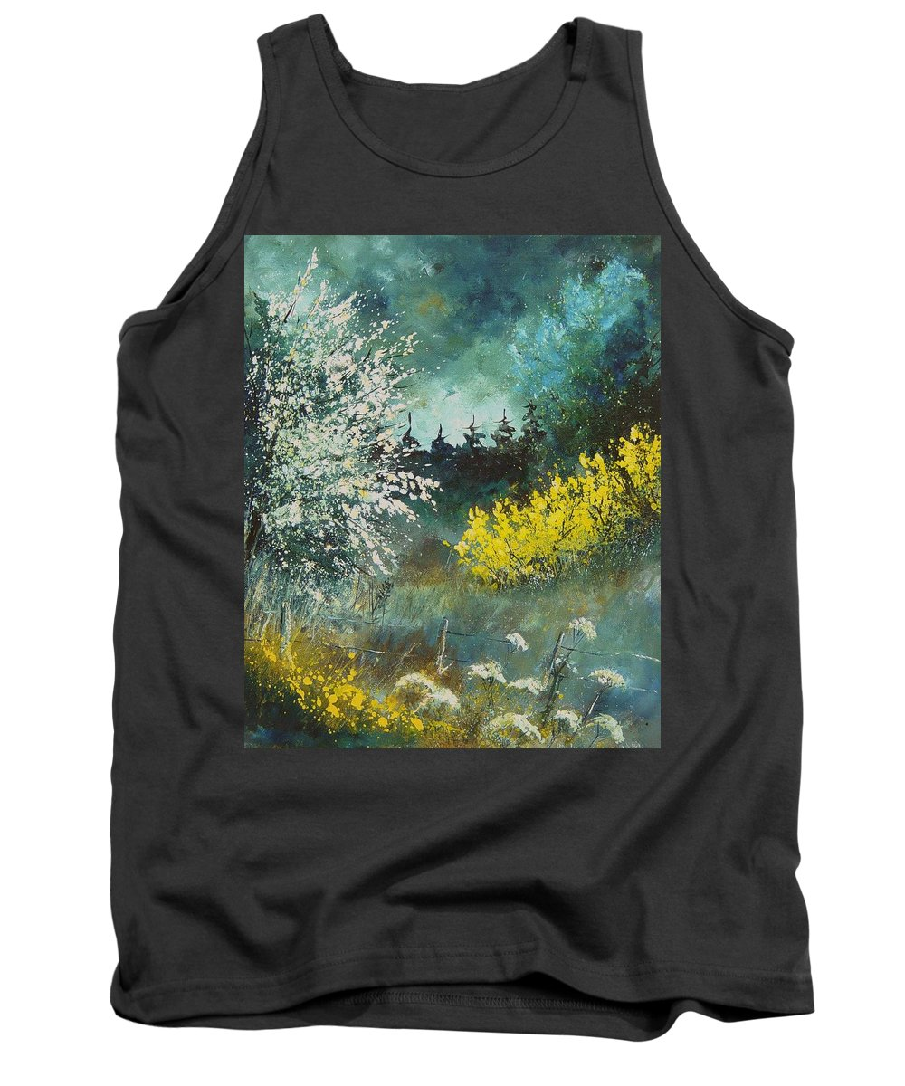 Spring Tank Top featuring the painting Spring by Pol Ledent