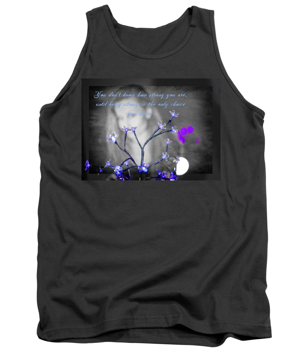 Strength Tank Top featuring the photograph Strength by Alex Art and Photo