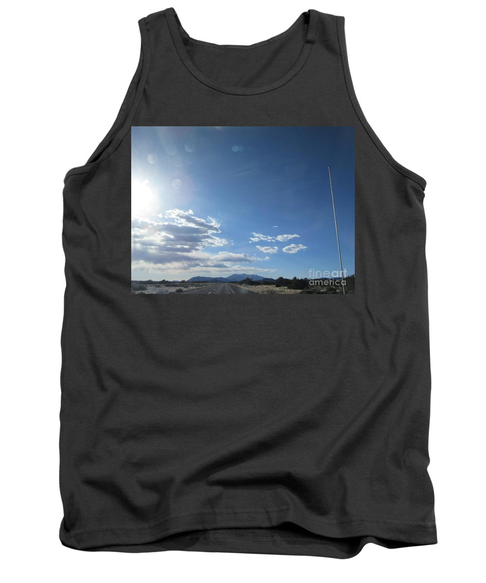 Travelling Tank Top featuring the photograph Travelling To Flagstaff by Frederick Holiday