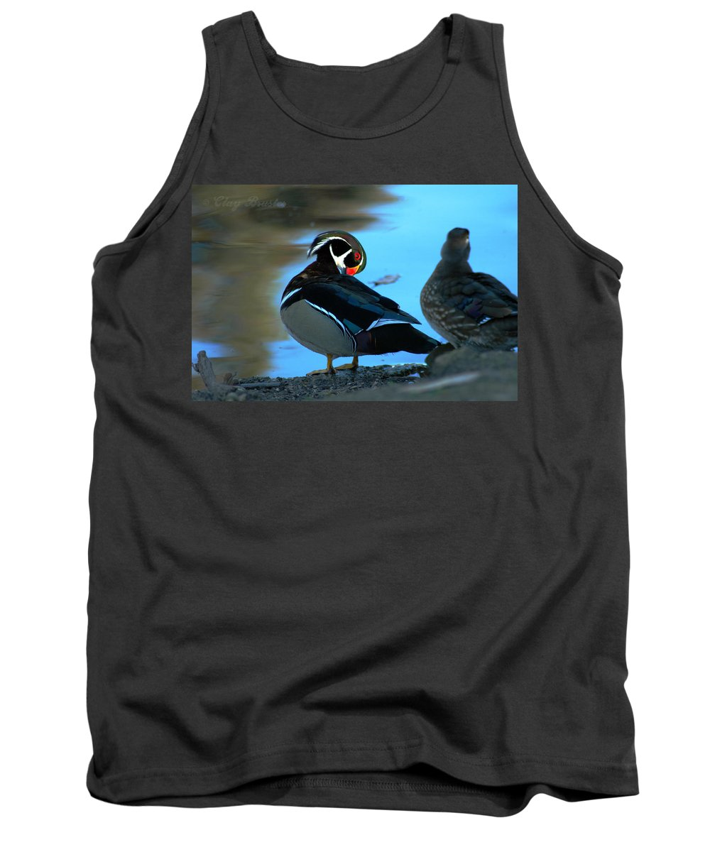Clay Tank Top featuring the photograph Wood Duck by Clayton Bruster
