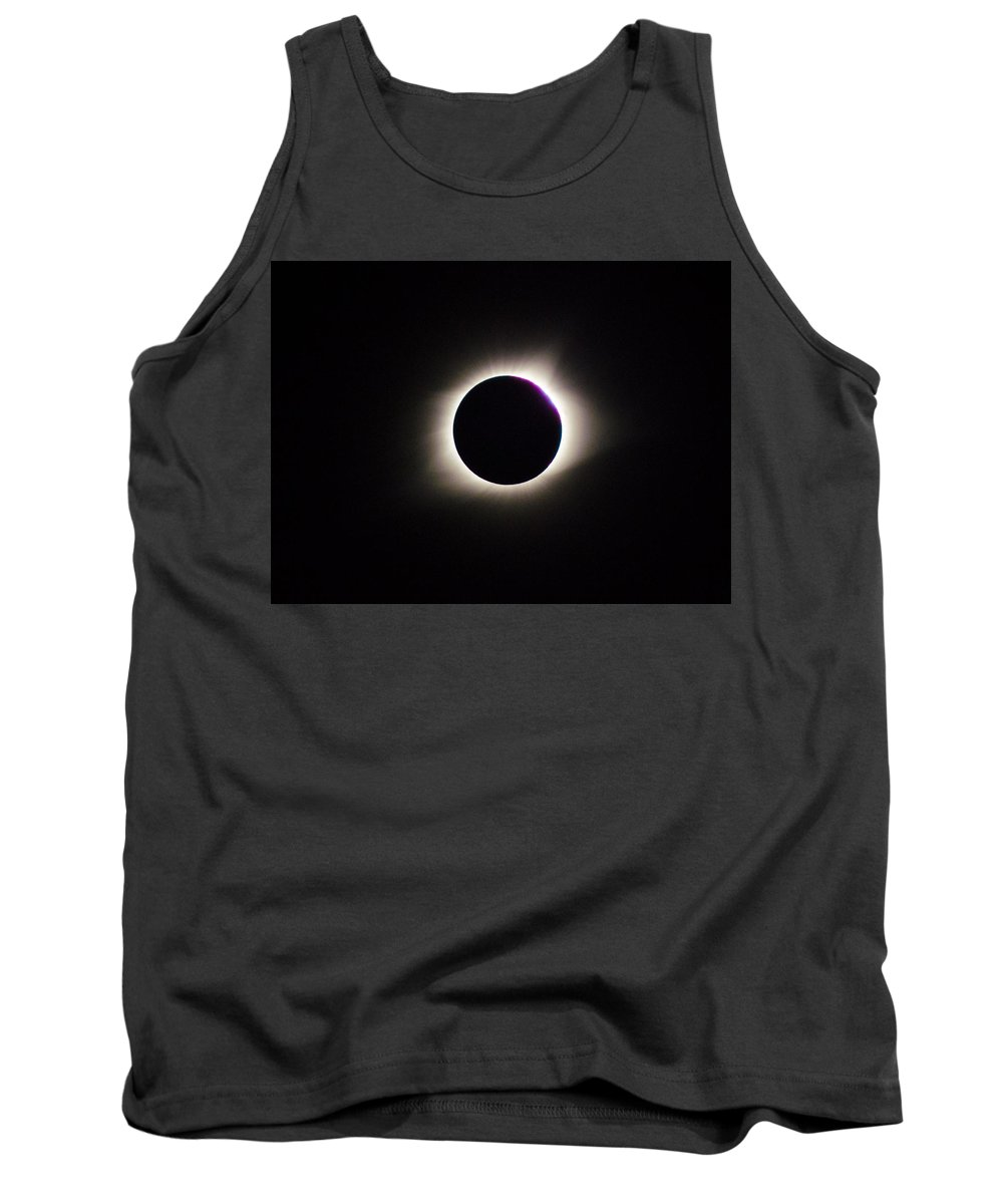 Eclipse Tank Top featuring the photograph #20 August 2017 Solar Eclipse by John Diebolt