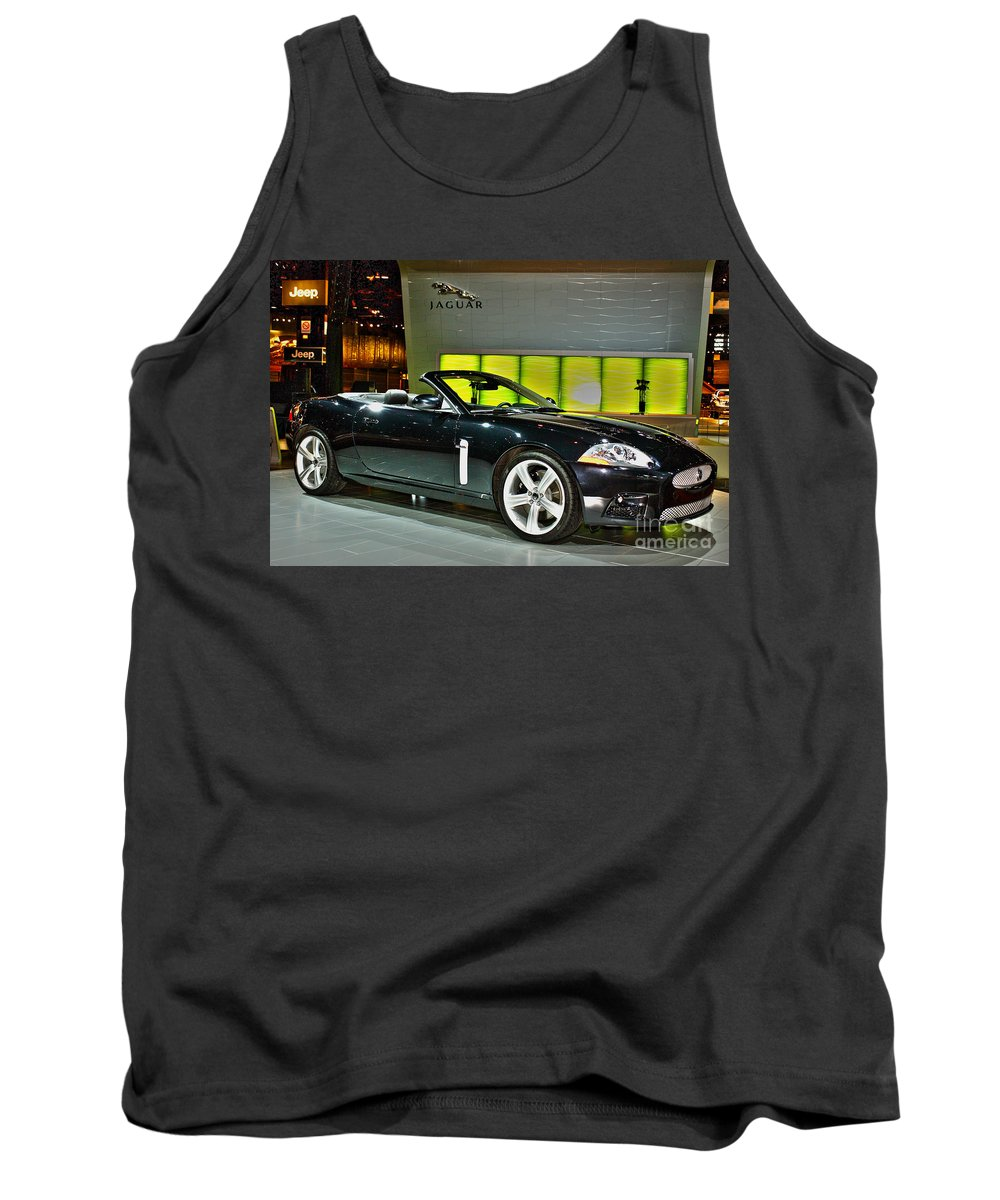 Automotive Tank Top featuring the photograph 2007 Jaguar Xkr Convertible R No 1 by Alan Look