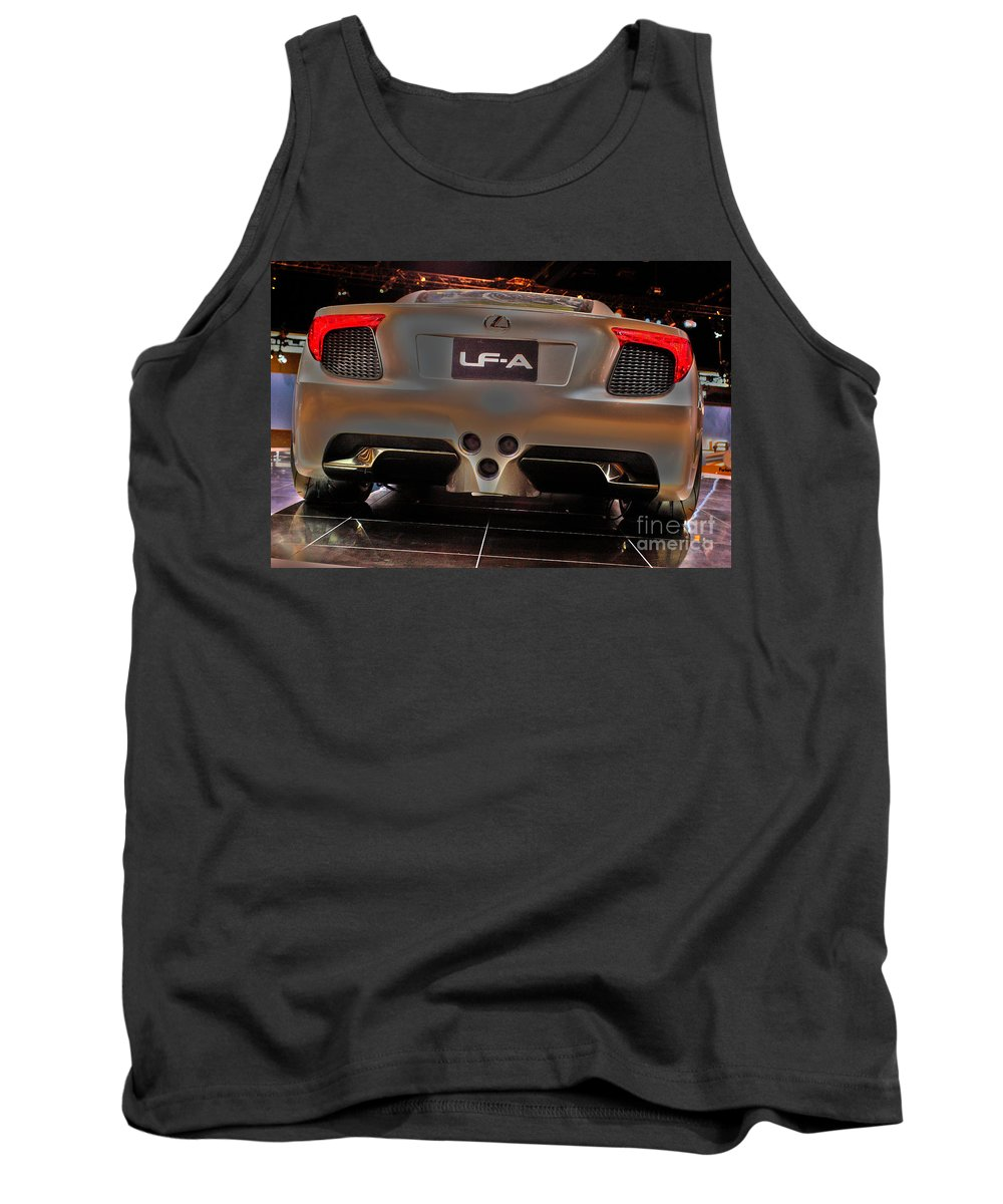 Automotive Tank Top featuring the photograph 2007 Lexus Lf-a Exotic Sports Car Concept No 3 by Alan Look
