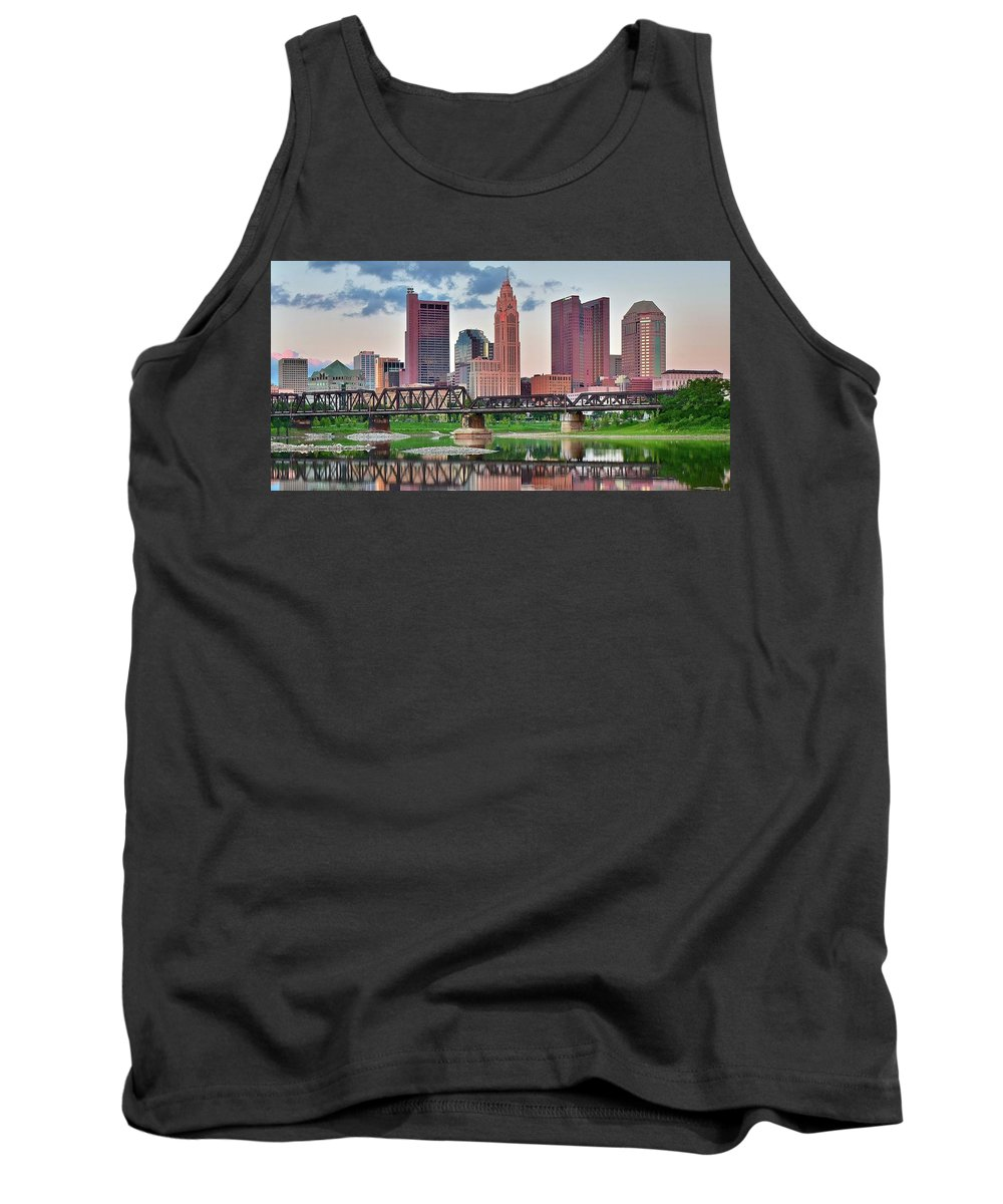 Columbus Tank Top featuring the photograph 2017 Columbus Panoramic by Frozen in Time Fine Art Photography